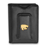 Kansas State University Black Leather Wallet in Gold-plated Sterling Silver MPN: GP013KSU-W1 UPC: 191101010460