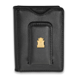 Marshall University Black Leather Wallet in Gold-plated Sterling Silver MPN: GP013MAU-W1 UPC: 191101010729