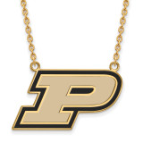 Purdue Large Enamel Pendant with Necklace in Gold-plated Sterling Silver MPN: GP016PU-18 UPC: 886774919980