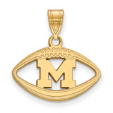 Michigan University of Pendant in Football in Gold-plated Sterling Silver MPN: GP019UM UPC: 886774924229