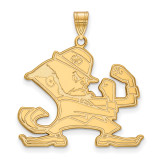 University of Notre Dame x-Large Pendant in Gold-plated Sterling Silver MPN: GP047UND UPC: