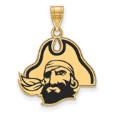 East Carolina University Large Enamel Pendant in Gold-plated Sterling Silver MPN: GP050ECU UPC: 886774947204