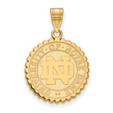 University of Notre Dame Large Crest in Gold-plated Sterling Silver MPN: GP067UND UPC: