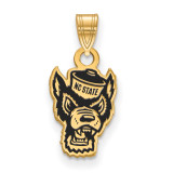 North Carolina State U Small Enamel Pendant in Gold-plated Sterling Silver MPN: GP075NCS UPC: 886774954806