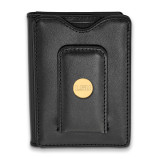 Louisiana State University Black Leather Wallet in Gold-plated Sterling Silver MPN: GP090LSU-W1 UPC: 191101010590