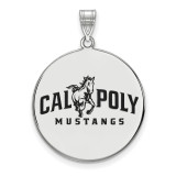 California Polytechnic State U x-Large Enamel Disc Pendant in Sterling Silver MPN: SS003CPY UPC: 883957247953