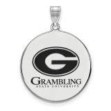Grambling State University x-Large Enamel Disc Pendant in Sterling Silver MPN: SS003GRA UPC: 883957248363