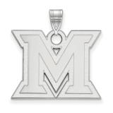 Miami University Large Pendant in Sterling Silver MPN: SS004MU UPC: 886774689982
