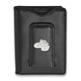Gonzaga University Black Leather Money Clip Wallet in Sterling Silver MPN: SS010GON-W1 UPC:
