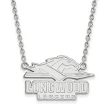 Longwood University Large Enamel Pendant with Necklace in Sterling Silver MPN: SS010LOC-18 UPC: 886774688183