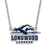 Longwood University Large Enamel Pendant with Necklace in Sterling Silver MPN: SS011LOC-18 UPC: 886774688244
