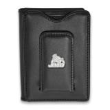 James Madison Univ Black Leather Money Clip Wallet in Sterling Silver MPN: SS021JMU-W1 UPC: