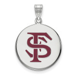 Florida State University Large Enamel Disc Pendant in Sterling Silver MPN: SS042FSU UPC: 886774764108