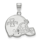 Iowa State University Football Helmet Pendant in Sterling Silver MPN: SS046IAS UPC: 191101268755