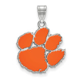 Clemson University Medium Enamel Pendant in Sterling Silver MPN: SS048CU UPC: