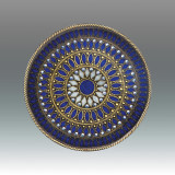 Tizo Galaxies Jeweltone Round Coaster - Blue, MPN: RS402BLCO