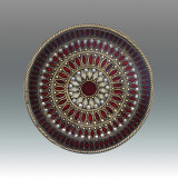 Tizo Galaxies Jeweltone Round Coaster - Red, MPN: RS402RDCO