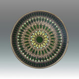 Tizo Galaxies Jeweltone Round Coaster - Green, MPN: RS402GNCO