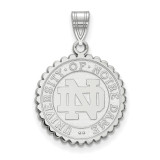 University of Notre Dame Large Crest in Sterling Silver MPN: SS067UND UPC: