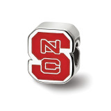 North Carolina State U Enameled Logo Bead in Sterling Silver MPN: SS500NCS UPC: 810680029730