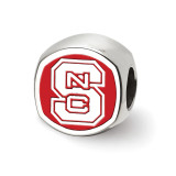 North Carolina State U Cushion shaped Logo Bead in Sterling Silver MPN: SS501NCS UPC: 810680029723