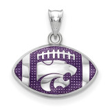 Kansas State Univ. Wildcat Enameled Football Pendant in Sterling Silver MPN: SS508KSU UPC: 634401431479