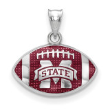 Mississippi State Univ. Enameled Football Pendant in Sterling Silver MPN: SS508MSS UPC: 634401431509