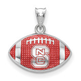 North Carolina State Univ. Enameled Football Pendant in Sterling Silver MPN: SS508NCS UPC: 634401431516