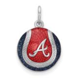 Atlanta Braves Small Enameled Baseball Charm in Sterling Silver MPN: SS520BRA UPC: 634401476999
