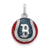 Boston Red Sox Enameled Baseball Charm in Sterling Silver MPN: SS520RSO UPC: 634401431912
