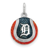 Detroit Tigers Enameled Baseball Charm in Sterling Silver MPN: SS520TIG UPC: 634401501318
