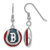 Boston Red Sox Enameled Baseball Dangle Earrings in Sterling Silver MPN: SS521RSO UPC: 634401450999