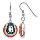 Detroit Tigers Enameled Baseball Dangle Earrings in Sterling Silver MPN: SS521TIG UPC: 634401431998