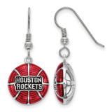 Houston Rockets Enameled Basketball Dangle Earrings in Sterling Silver MPN: SS524RCK UPC: 634401432216