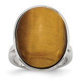 Tiger's Eye Ring Stainless Steel, MPN: SR189, UPC: 886774192291 by Chisel Jewelry