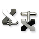 Black-plating and Polished Cufflinks Stainless Steel, MPN: SRC193, UPC: 191101371783 by Chisel Jewelry