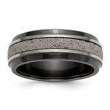 Edward Mirell 8mm Blk Ti Stepped with Gray Crete Insert Band, MPN: EMR311