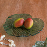 Annieglass Leaves Palm Frond Large Platter MPN: L304GR