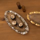 Annieglass Ruffle Large Oval Platter Platinum MPN: P232