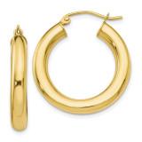 Lightweight Hoop Earrings 10k Gold Polished by Leslie's Jewelry MPN: 10LE378