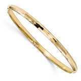 Bangle 10k Gold Polished by Leslie's Jewelry MPN: 10LF553, UPC: 191101753794