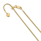 1.5 mm Gold-plated Adjustable Spiga Chain 30 Inch Sterling Silver by Leslie's Jewelry MPN: FC50-30