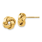 Love Knot Earrings 14k Gold Polished by Leslie's Jewelry MPN: LE1316, UPC: 191101756870