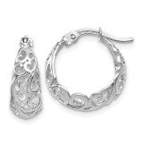 Hoop Earrings 14k White Gold Polished by Leslie's Jewelry MPN: LE917, UPC: 886774569574