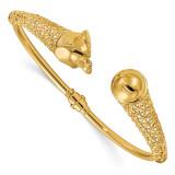 Elephant Head Hinged Cuff Bangle 14k Gold Polished by Leslie's Jewelry MPN: LF1019, UPC: 191101054631
