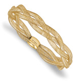 Fancy Stretch Bangle Bracelet 14k Gold by Leslie's Jewelry MPN: LF747, UPC: 191101794063