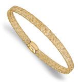 Fancy Stretch Bangle Bracelet 14k Gold by Leslie's Jewelry MPN: LF749, UPC: 191101794087