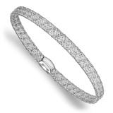 Fancy Stretch Bangle Bracelet 14K White Gold by Leslie's Jewelry MPN: LF750