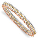 4 Wavy Slip-On Bangle 14k Tri-Color Polished Gold by Leslie's Jewelry MPN: LF946, UPC: 191101148675