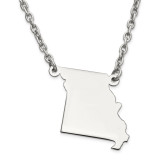 Missouri State Pendant Necklace with Chain in Sterling Silver MPN: XNA706SS-MO UPC: 886774568089